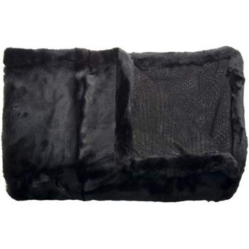 Luxurious Leather/Faux Fur Throw GVSC-5000