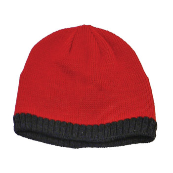 Knitted Beanie With Fleece Ear Lining X-3600